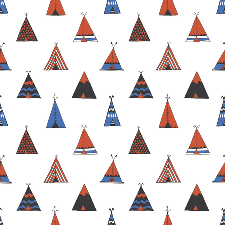 tipi: Teepee native american summer tent illustration in vector.