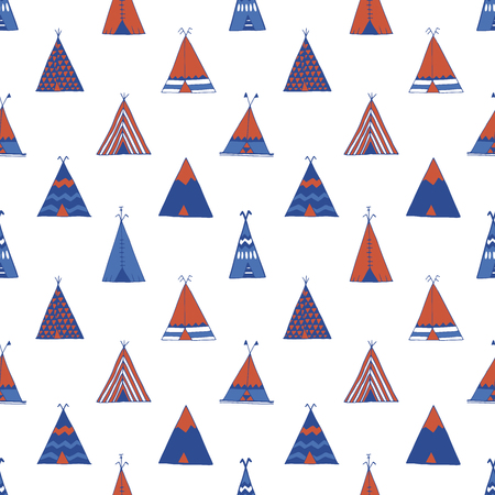 teepee: Teepee native american summer tent illustration in vector.