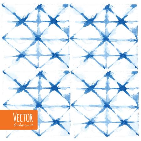 抽象的なブルー ネクタイ染め水彩背景ベクトル。