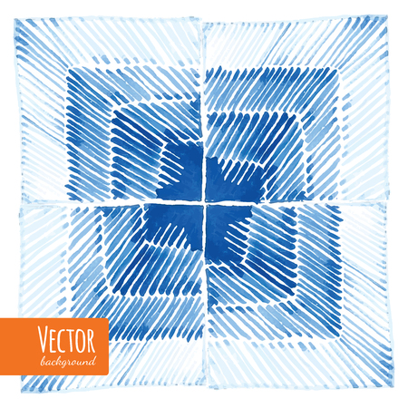 Abstract shibori tie dyed watercolor backgrounds in vector.