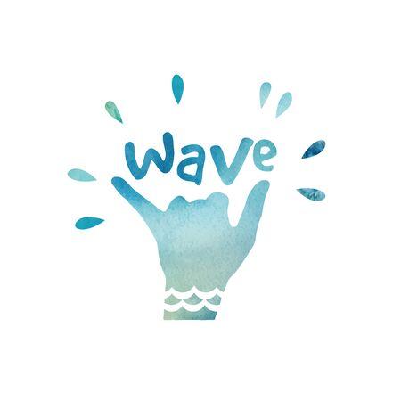 malibu: T-shirt printing design, typography graphics surfing vector illustration. Badge Label California wave surf sign. Watercolor retro surfing labels, badges and design elements. Illustration