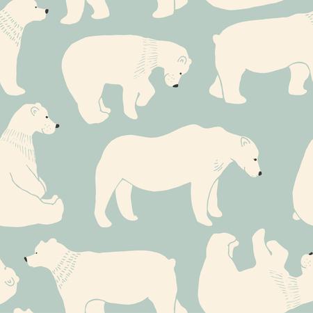 shape cub: Cute Bear pattern in vector.
