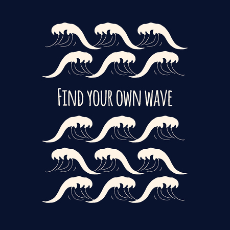 seamless pattern with waves.