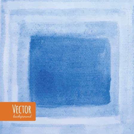 Bandes d'aquarelle bleue. Fond aquarelle. Place pour votre texte. Vecteurs