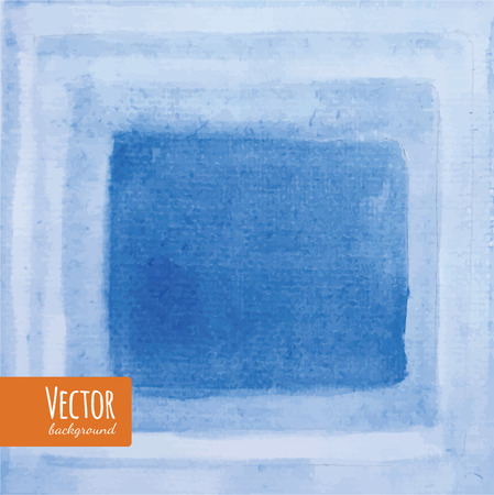 Blue Watercolor stripes. Watercolor Background. Place for your text.