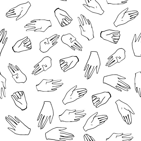 palm reading: Human hands pattern in vector.