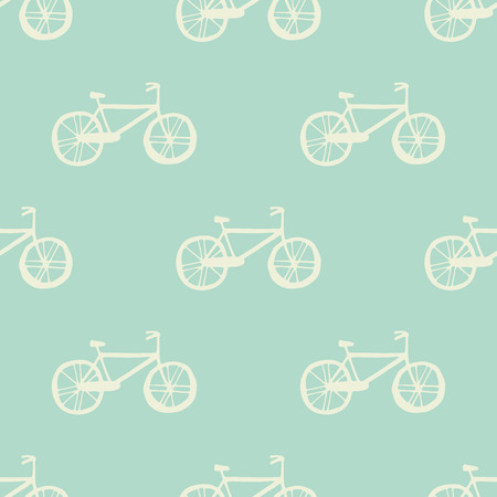 jorney: Illustration of Bicycle, Riding on the bicycle, vector illustration. Seamless pattern.