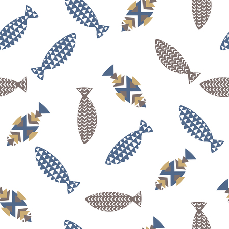 fishes pattern: Decorative fishes pattern seamless in vector