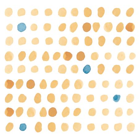 selectivity: Yellow polka dot pattern seamless in vector.
