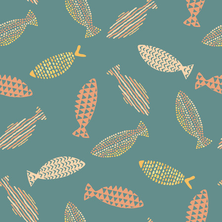 fishes pattern: Decorative fishes pattern seamless in vector.