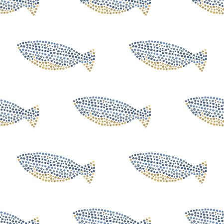 fish pattern: Decorative ocean fish pattern seamless in vector.