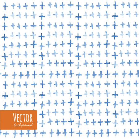 dyed: Abstract tie dyed crosses watercolor background in vector.
