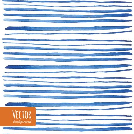 Watercolor blue strips in vector.