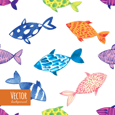 fishes pattern: Decorative multicolor fishes pattern seamless in vector. Illustration