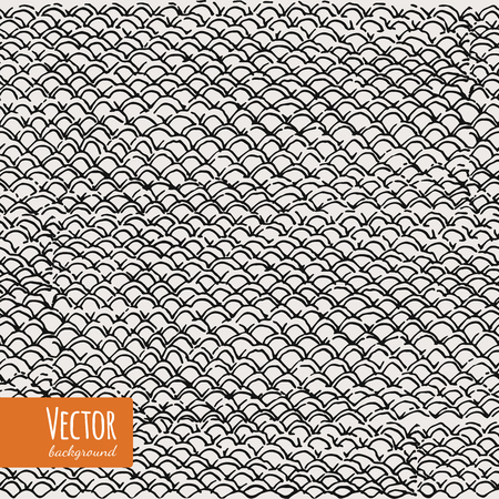 fish with scales: Hand drawn fish skin pattern in vector. Marine background for your design. Fish texture. Seamless pattern fish scales.