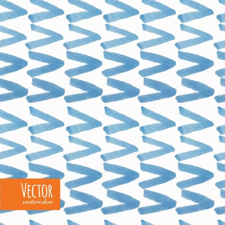 水彩の三角形のシームレスなパターン。藍絞りのパターンのコレクションです。  イラスト・ベクター素材