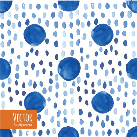 technic: Abstract blue indigo tie dyed watercolor backgrounds in vector. Watercolor shibori batik technic illustration.