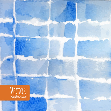 dyed: Abstract blue indigo tie dyed watercolor backgrounds in vector. Watercolor shibori batik technic illustration.