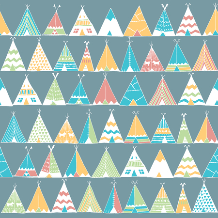 teepee: Teepee illustration in vector. Home is where you are sign. Indian camping tent background. Inspiration poster.