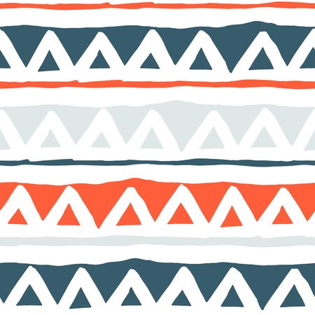 zig: Triangles geometric seamless pattern in vector. Colorful trendy pattern collection. Illustration