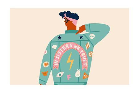 Feminist girl cartoon character.