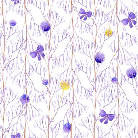 Seamless lilac celebration