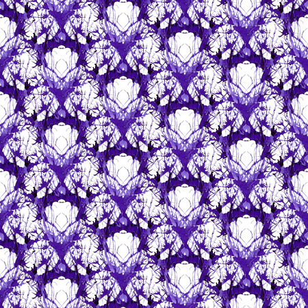 Seamless violet ornament of branches. Ornament 6 - geometric pattern. 写真素材