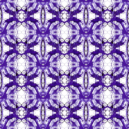 Seamless violet ornament of branches. Ornament 7 - specular rounded pattern. 写真素材