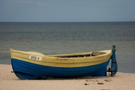 Polish fishermen boat Stock fotó