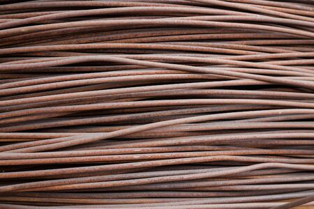 steel texture: Heap of steel rusty wire armature texture background