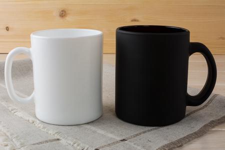 White and black coffee mug mockup. White mug mockup. Mug Product Mockup. Styled mockup. Product mockup. White cup mockup. Cup mockup. Blank mug. Empty Mug Mockup