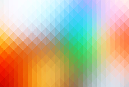 Rainbow colors abstract geometric background with rows of triangles Stock Photo