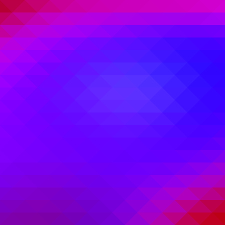 Pink purple blue abstract geometric background with rows of triangles, square