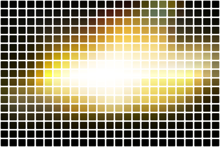Black grey yellow white vector abstract mosaic background with rounded corners square tiles over white