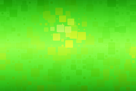 Green yellow brown shades vector abstract glowing background with random sizes rounded corners tiles  Stock Photo