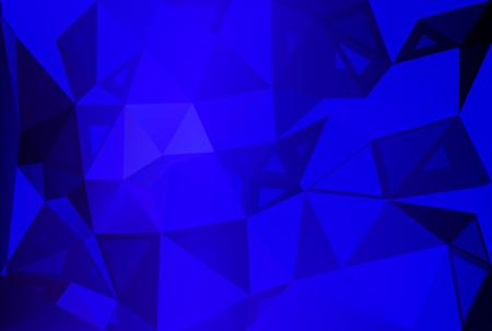 size: Dark blue abstract random sizes low poly geometric background