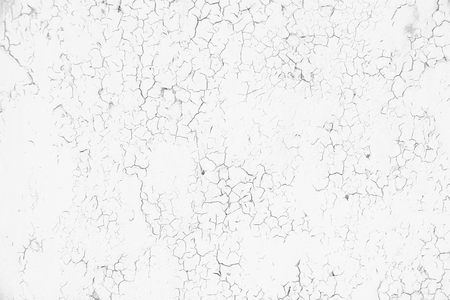 Cracked concrete wall background. Grunge black and white texture template for overlay artwork.