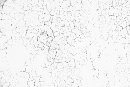 Weathered cracked paint background. Grunge black and white texture template for overlay artwork.