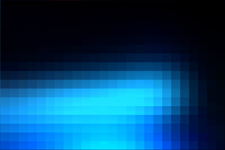 Deep and pale blue abstract square tiles mosaic background
