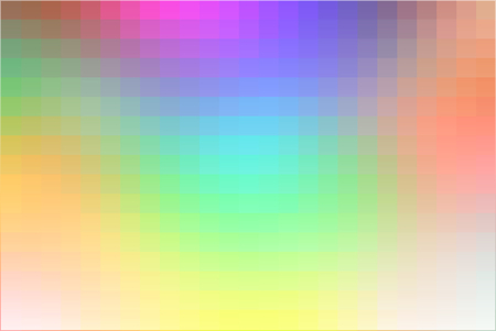pixelated: Light rainbow abstract square tiles mosaic background