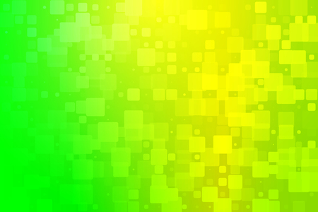 Yellow golden green shades abstract glowing background with random sizes rounded corners tiles Stock Photo
