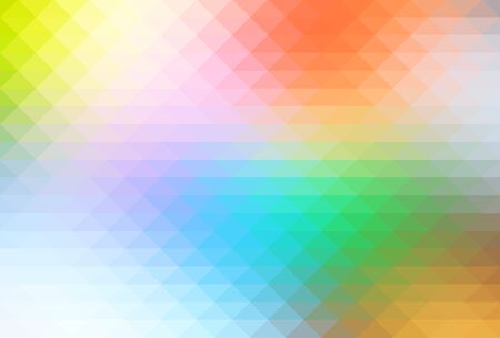 pale colors: Rainbow pale colors abstract geometric background with rows of triangles