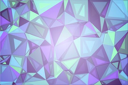diamond texture: Purple shades green abstract random sizes low poly geometric background