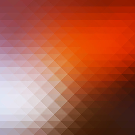 Brown orange white abstract geometric background with rows of triangles, square