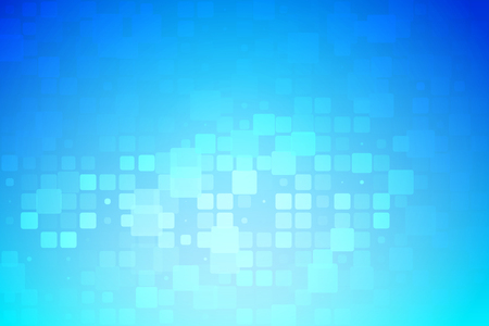Blue and light turquoise abstract glowing background with random sizes rounded corners tiles  Stock Photo