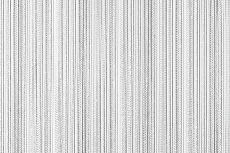 Striped fabric background. Black and white vector texture template for overlay artwork. Vettoriali