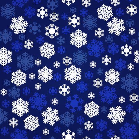 Christmas navy blue and white snowflakes seamless pattern for holidays home decor, textile and gift wrap