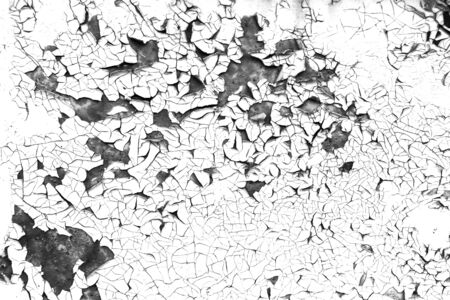 Old cracked paint background. Grunge contrast black and white texture template for overlay artwork.
