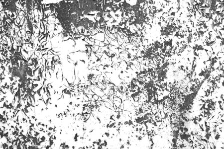 Distressed cracked paint contrast black and white grunge texture template for overlay artwork.