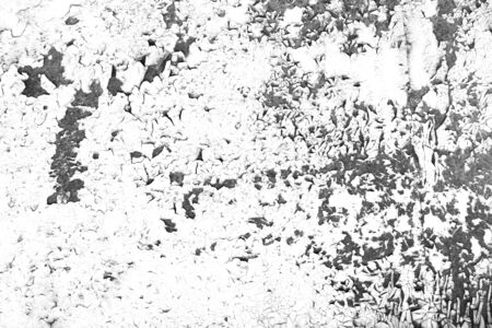 Old wall with cracked paint background. Grunge contrast black and white texture template for overlay artwork.